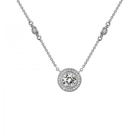 Swarovski® Diamond Round Pave Necklace