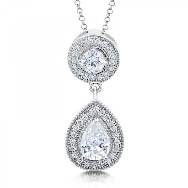 Swarovski® Pear Diamond Necklace