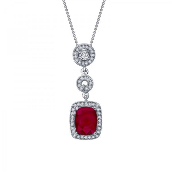 Swarovski® Diamond and Ruby 3-Part Necklace, Swarovski Pendants, Heaven Culture Jewelry