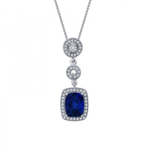 Swarovski® Diamond and Sapphire Necklace