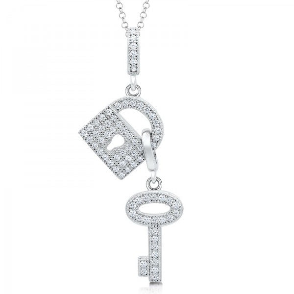 Swarovski® Heaven's Lock and Key Necklace