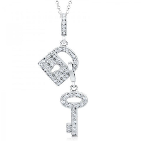 Swarovski® Heaven's Lock and Key Necklace, Swarovski Pendants, Heaven Culture Jewelry