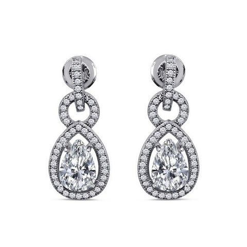 Antique Style Swarovski® Diamond Earrings, Swarovski Earings, Heaven Culture Jewelry