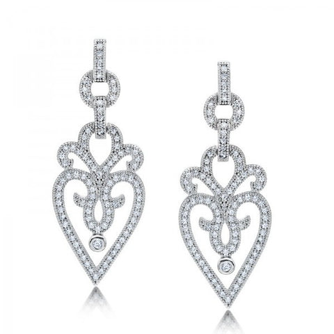 Ornate Swarovski® Diamond Earrings, Swarovski Earrings, Heaven Culture Jewelry