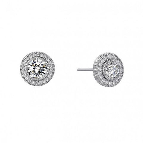 Swarovski® Diamond Round Pave Stud Earrings