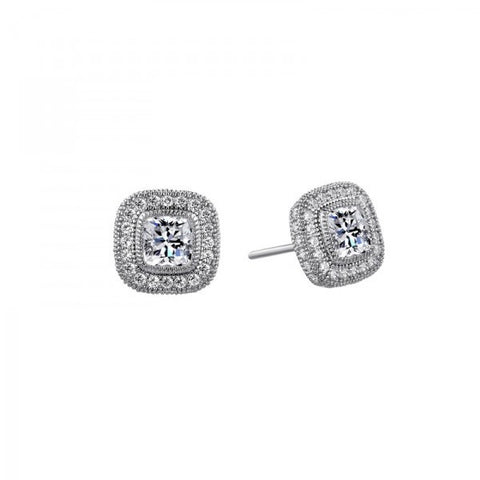 Swarovski® Diamond Halo Stud Earrings, Swarovski Earrings, Heaven Culture Jewelry