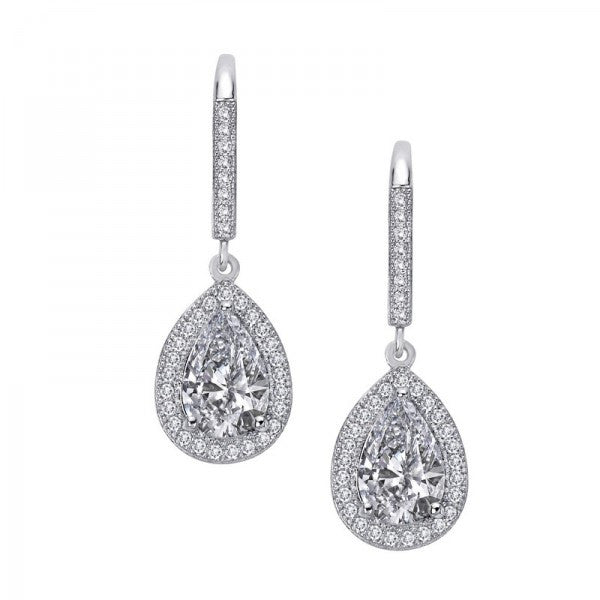 Swarovski® Diamond Tear Drop Earrings