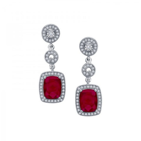 Ruby and Swarovski® Diamond Earrings, Swarovski Earrings, Heaven Culture Jewelry
