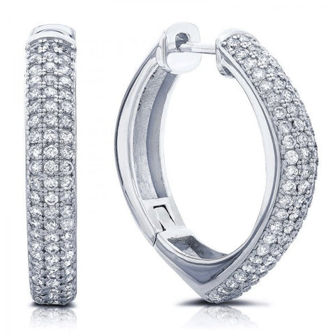 Swarovski® Diamond Hoop Earrings