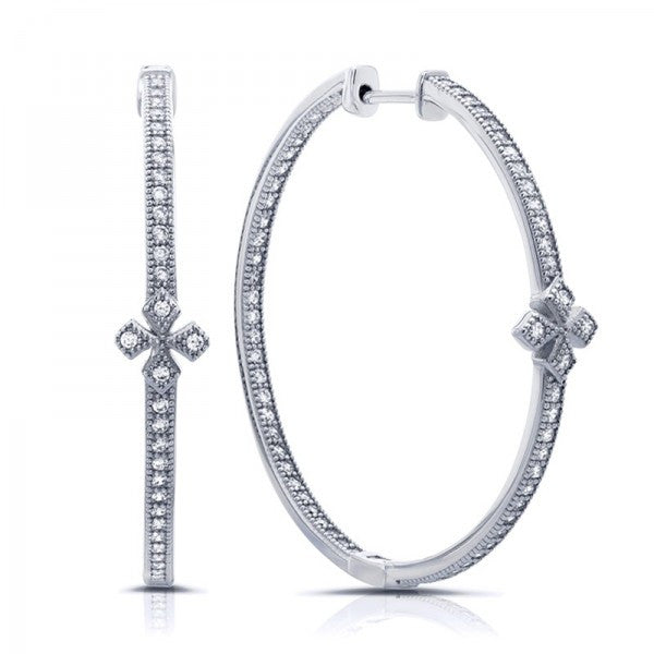 Swarovski® Diamond Hoop Earrings, Swarovski Earrings, Heaven Culture Jewelry