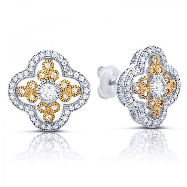 Swarovski® Diamond Stud Earrings