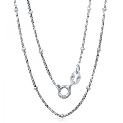 Lightweight Italian Silver Chain With Rhodium Plating, Swarovski Chains, Heaven Culture Jewelry