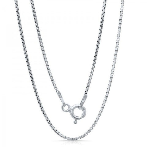 Lightweight Italian Silver Chain With Rhodium Plating., Swarovski Chains, Heaven Culture Jewelry