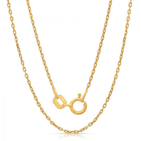 Lightweight Italian Silver Chain With Gold Plating, Swarovski Chains, Heaven Culture Jewelry