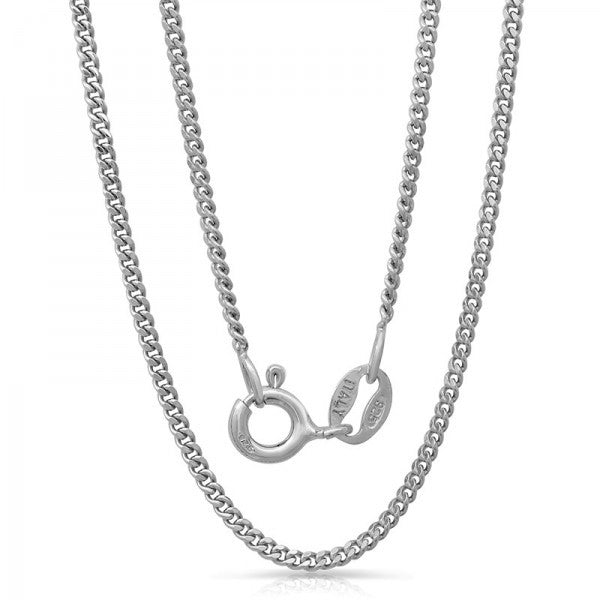 Lightweight Italian Silver Chain With Rhodium Plating., Swarovski Chains, Eversmart Beauty
