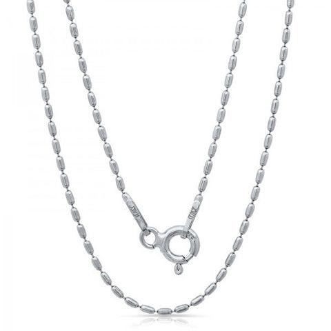 Lightweight Italian Silver Chain With Rhodium Plating, Swarovski Chains, Eversmart Beauty