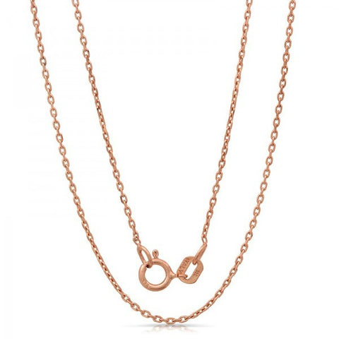 Lightweight Italian Silver Chain With Rose Gold Plating, Swarovski Chains, Eversmart Beauty