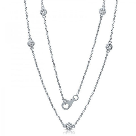 Swarovski® Diamond By The Yard Chain Necklace, Swarovski Necklace, Heaven Culture Jewelry