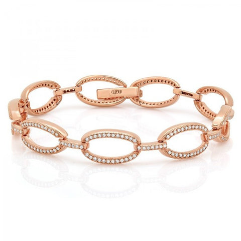 Rose Gold Micron Plated Swarovski® Diamond Bracelet, Swarovski Bracelets, Heaven Culture Jewelry