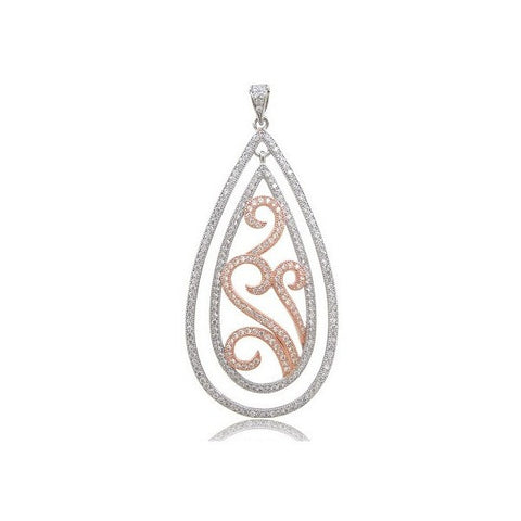 Swarovski® Platinum Rhodium And Rose Gold Plating Fashion Pendant, Swarovski Pendants, Heaven Culture Jewelry