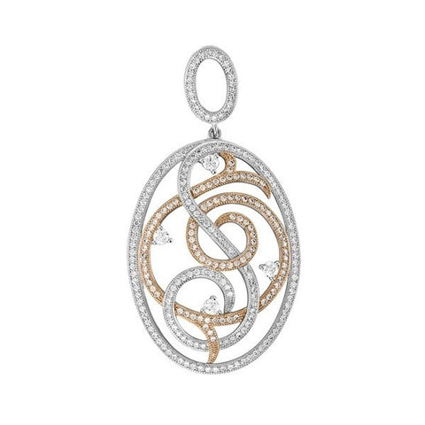 Swarovski® Platinum Gold And Rhodium Plated Pendant, Swarovski Pendants, Heaven Culture Jewelry