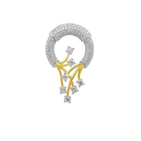 Swarovski® Platinum Gold And Rhodium Plated Pave Fashion Pendant, Swarovski Pendants, Heaven Culture Jewelry