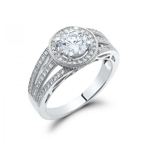 Swarovski® Diamond Engagement Wedding Ring, Swarovski Rings, Heaven Culture Jewelry