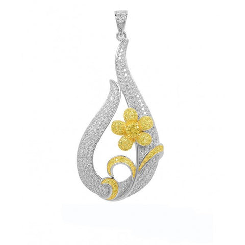 Swarovski® Platinum Gold And Rhodium Plated Fashion Pendant, Swarovski Pendants, Heaven Culture Jewelry