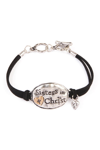 Sister In Christ Charm Bracelet, Heaven Culture bracelet, Heaven Culture Jewelry