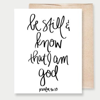 Be Still And Know I Am God Greeting Card, Greeting Cards, Heaven Culture Jewelry