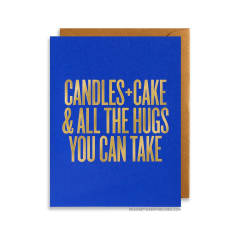 Candles Cake and All the Hugs You Can Take Greeting Card, Greeting Cards, Eversmart Beauty
