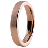 4mm 18K Rose Gold Plated PlatedTungsten Ring for Men or Women Comfort Fit, Tungsten Ring, Heaven Culture Jewelry