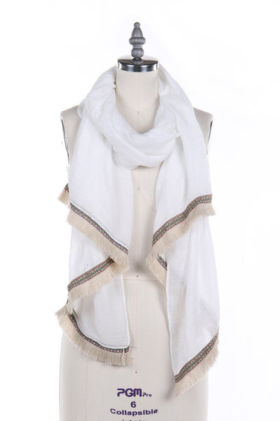 Light Weight Fringe Scarf, Heaven Culture Scarf, Eversmart Beauty