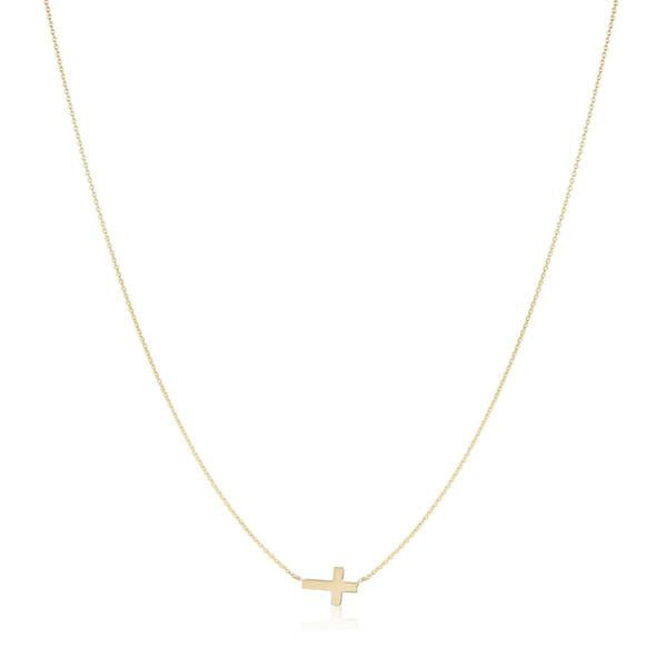 Gold Cross Necklace, Gold Cross Necklace, Heaven Culture Jewelry
