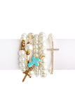 Cross Bracelet Set, Heaven Culture bracelet, Eversmart Beauty