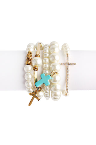 Cross Bracelet Set, Heaven Culture bracelet, Heaven Culture Jewelry
