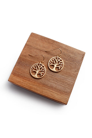 Tree Of Life Round Earrings, Heaven Culture Earrings, Heaven Culture Jewelry