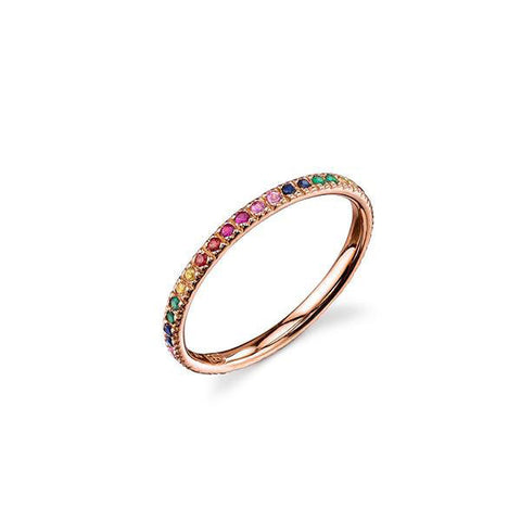 14K Gold Rainbow Eternity Ring, Heaven Culture Trinity Necklace, Heaven Culture Jewelry