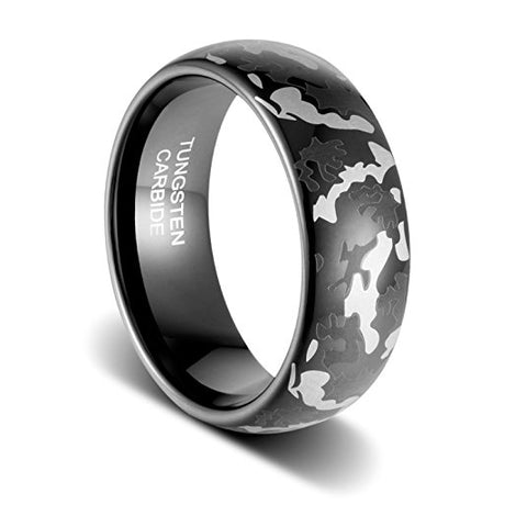 8mm Host of Heaven Tungsten Ring, Tungsten Ring, Heaven Culture Jewelry