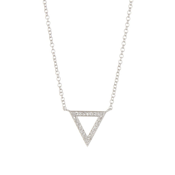 14K White Gold Diamond Pave Trinity Pendant Necklace, Heaven Culture Trinity Necklace, Heaven Culture Jewelry