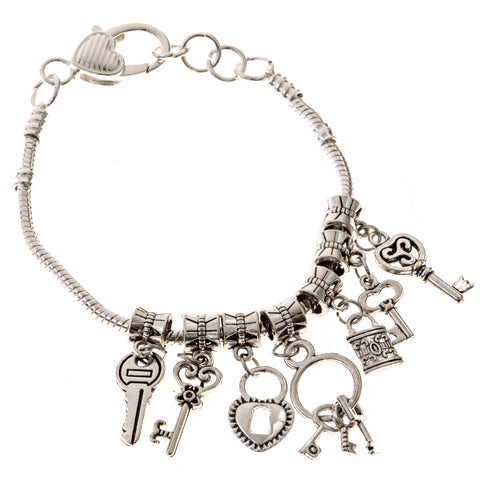 Heaven's Key Charms Bracelet, Keys to the Kingdom Bracelet, Eversmart Beauty
