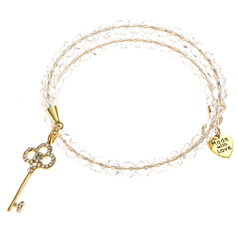 Heaven's Key Hard Wire Made with Love Bracelet, Keys to the Kingdom Bracelet, Eversmart Beauty