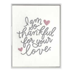 I'm so Thankful for your Love Greeting Card, Greeting Cards, Heaven Culture Jewelry