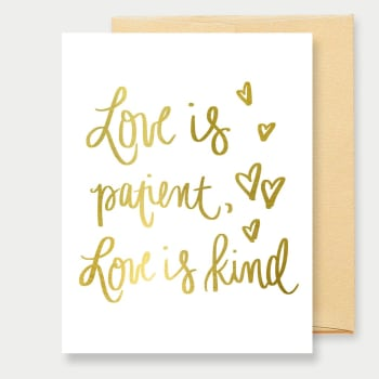 Love is Patient Love is Kind Greeting Card, Greeting Cards, Heaven Culture Jewelry