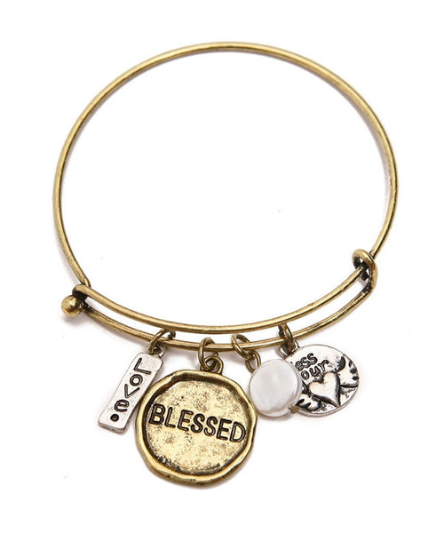 Blessed Charm Bangle, Heaven Culture Bangle, Heaven Culture Jewelry