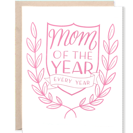 Mom of the Year Greeting Card, Greeting Cards, Eversmart Beauty