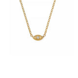 14K Yellow Gold Diamond God's Eye Necklace, Heaven Culture Trinity Necklace, Eversmart Beauty
