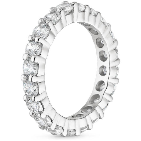 Platinum Diamond Eternity Ring (3 CT. TW.), Heaven Culture Diamond Eternity Ring, Eversmart Beauty
