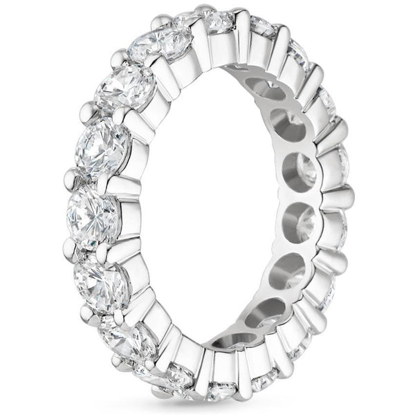 Platinum Diamond Eternity Ring (4 CT. TW.), , Heaven Culture Jewelry