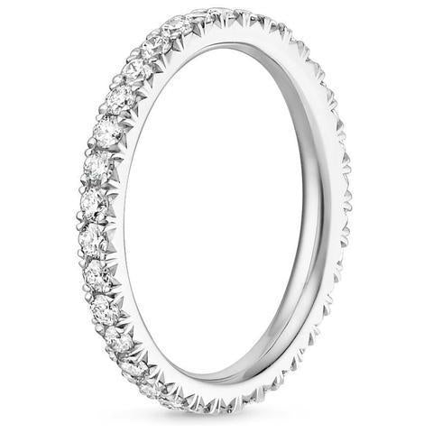 Platinum Eternity Diamond Ring (2/3 CT. TW.), Heaven Culture Eternity Diamond Ring, Heaven Culture Jewelry